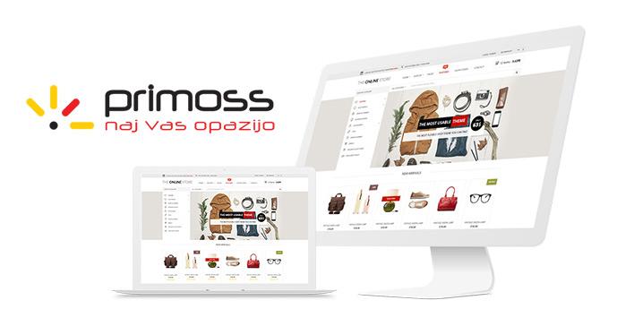 Izdelava spletnih trgovin - Primoss